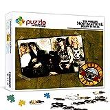 Puzzle para adultos 1000 piezas Guns N 'Rosesrompecabezas de madera desafiante juego de póster de rompecabezas, rompecabezas de pintura de decoración de pared 75x50cm