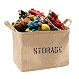 Youdepot Large 17x 13 inches Jute Storage Bin - Storage Basket with Handles Made from Eco - Friendly Jute,Perfect for Toys,Baby Clothing,Children Books,Gift Baskets,Clothes Storage Box