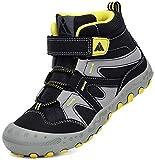 Mishansha Enfant Chaussure Marche Garçon Léger Chaussure Montagne Fille Antidérapant Respirantes Chaussures Randonnees Noir Fumé GR.32