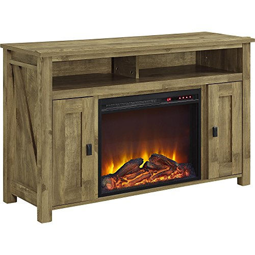 Ameriwood Home Farmington Electric Fireplace TV Console for TVs up to 50', Natural
