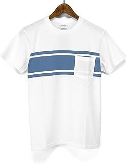 ベルバシーン(VELVA SHEEN)Tシャツ 161574 COLLEGE BORDER ボーダー クルーネックポケットTシャツ ポケット付きクルーネックTシャツ