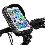 自転車 スマホ ホルダー 収納可能 防水 防圧 遮光 多機能 携帯ホルダー 6.0インチスマホ対応 iphone android 多機種対応 防水バッグ ホルダー