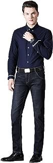 Men's Flannel Lined Jeans Men's Slim Fit Tapered Fleece Lined Jeans