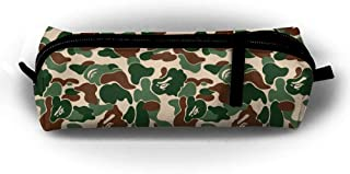 QQMIMIG Animal Bape Camouflage Green Student's Pencil Holders Case Bag Coin Purse Pouch Stationery Bag