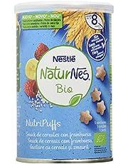 Nestlé Naturnes Bio Nutri Puffs Snack De Cereales Con Frambuesa, A Partir De 8 Meses - Pack de 5 envases x 35g