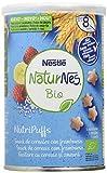 Nestlé Naturnes Bio Nutri Puffs Snack De Cereales Con Frambuesa, A Partir De 8 Meses - Pack de 5...
