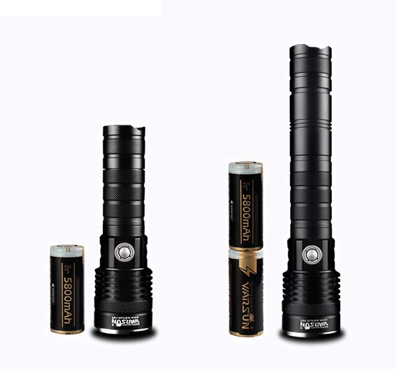 A9 Dual Switch abnehmbare Taschenlampe, wiederaufladbare Multifunktions-Outdoor-LED-Taschenlampe, 26650 Batterie mit groer Kapazitt (Farbe   schwarz-Short double lithium battery)