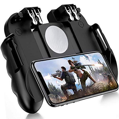 BESTZY Mobiler Game-Controller für PUBG, Mobiler Game-Joystick Gamepad Griff Gamepad Fernschuss Zielschlüssel L1R1 L2R2 [Sechs-Finger] für 4-6,5
