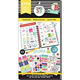 me & my BIG ideas Sticker Value Pack for Big Planner - The Happy Planner Scrapbooking Supplies - Teacher Theme - Multi-Color & Gold Foil - Great for Projects & Albums - 30 Sheets, 1733 Stickers Total