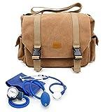 DURAGADGET Bolsa De Lona Beige De Primers Secours Para Enfermeras / Asistencia Médica / Emergencia / Bomberos - Compartimentos Para Su Material Médico