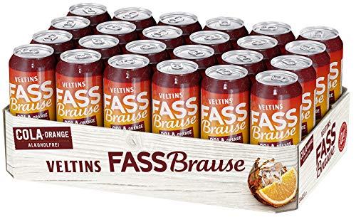 VELTINS Fassbrause Cola-Orange Alkoholfrei, EINWEG (24 x 0.5 l Dose)