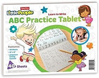Fisher Price ABC práctica, tablet, 12x 9inches, 40hojas con la práctica Guía (430)