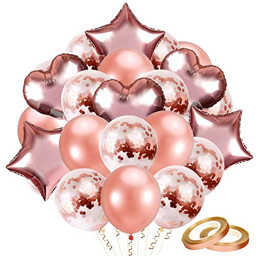 Generique Ballons Lettres Happy Birthday Rose Gold 1,5 m
