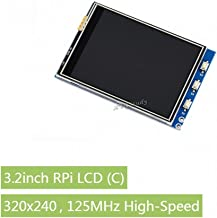 3.2inch RPi LCD (C), 3.2 inch Resistive Touch Screen Display TFT 320x240 125MHz High-Speed SPI for Raspberry Pi 1 2 3 Model B B+ A+ Raspbian Video Photo @XYGStudy