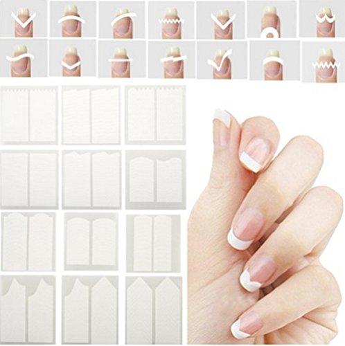 Kentop Lot de 24 Nail Sticker Autocollants à Ongles Stickers Fil Bandes pour Ongles Nail Outils Style aléatoire