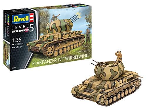 Revell 03296 Flakpanzer IV Wirbelwind originalgetreuer Modellbausatz für Experten, unlackiert