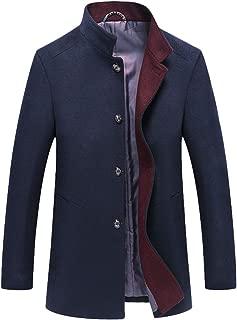 Men's Wool Trench Coats Winter Warm Business Jacket Overcoat Outwear