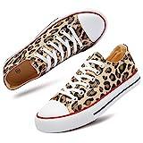 hash bubbie Women's Fashion Sneakers Leopard Print Low Top Casual Shoes(Leopard Print.7