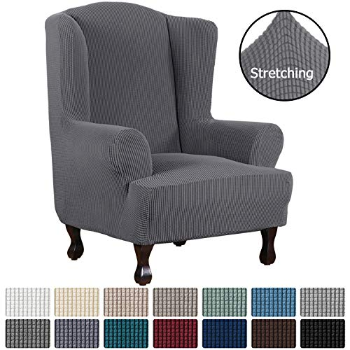 H.VERSAILTEX 1 Piece Super Stretch Stylish Furniture Cover/Wingback Chair Cover...