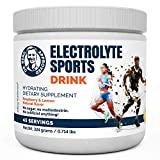 Dr. Berg's Electrolyte Sports Drink - Potassium Supplement High Energy Workouts Replenish & Rejuvenate Your Cells 45 Servings - Made in The USA NO Maltodextrin or Sugar - Raspberry Lemon Flavor