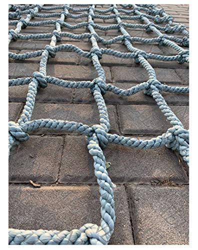 Cargo Netting ClimbingCargo Net Climbing Rope Netting Playground Kids Outdoor Climb Swing Mesh Safety Heavy Duty Netting Fence Child Rock Climbing Ladder Wallfor Kids Alduts Swingset16mmGray