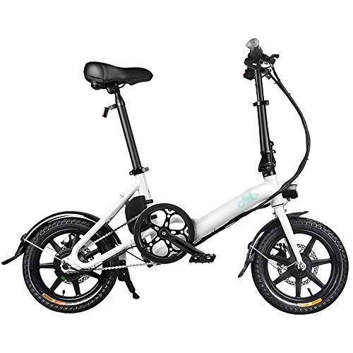 PHASFBJ Bicicleta Eléctrica Plegable, 14/16 Pulgadas E-Bike Bicis Electrica Urbana Ligera para...