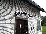 Vordach Haustür Überdachung Haustürvordach Pultvordach ca. 122 x 96 cm Türüberdachung