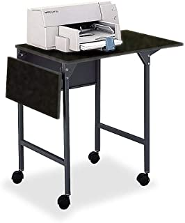 Safco Products 1876BL Machine Stand/Desk with Drop Leaves, Black