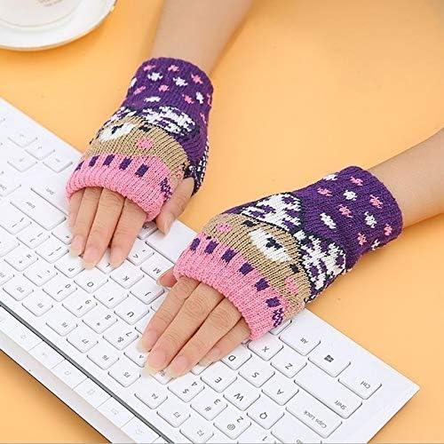 1Pair Spring Women Warmer Women Gloves Winter Fingerless Knit Mittens Button Gloves 2017 New - (Color: 11, Gloves Size: One Size)