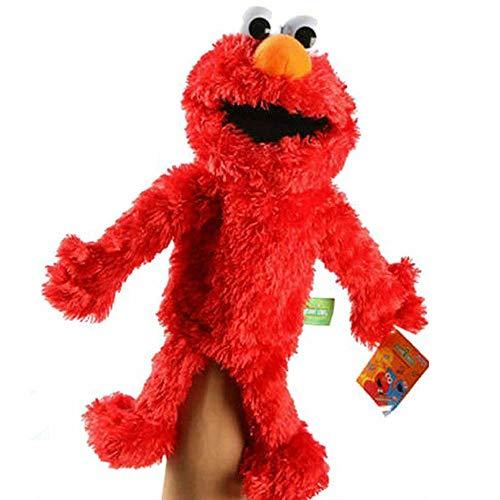 NOBRAND Barrio Sésamo El Show De Los Muppets,Juguete De Peluche Sesame Plush Hand Puppet Toy Sesame Street Plush Elmo Cookie Monster Hand Puppet Stuffed Animal Toy Juguete Educativo para Niños 31cm