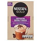 Nescafé Gold Cappuccino Double Choco Preparato Solubile per Cappuccino con Doppio Cioccolato, Astuccio 8 Bustine