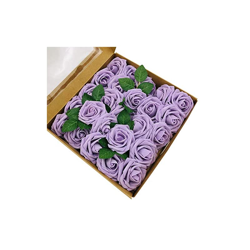 silk flower arrangements zorpia 50pcs artificial roses flowers real looking fake roses artificial foam roses decoration diy for wedding bouquets centerpieces,arrangements party baby shower (lilac)