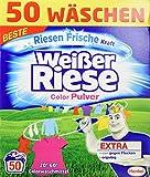 Weißer Riese Color Pulver, Colorwaschmittel, 50 Waschladungen, extra stark gegen Flecken