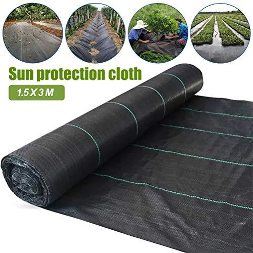 Tissu de Lutte Contre Les Mauvaises Herbes de Jardin, Tissu de Paysage de Membrane de Couverture de Sol, Couverture de Sol Anti-UV perméable et Respirante pour Les Cours de Jardins