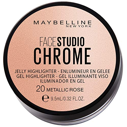 Maybelline New York Face Studio Chrome Jelly Highlighter, rose, 38 g