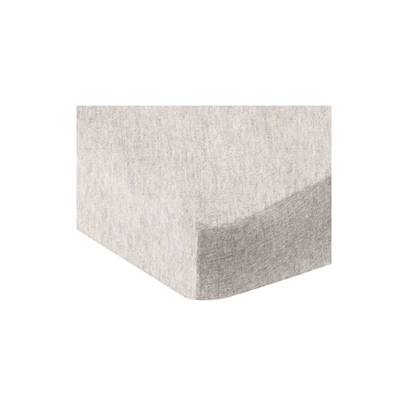 crib bedding and baby bedding amazon basics heather jersey fitted crib sheet bedding, oatmeal