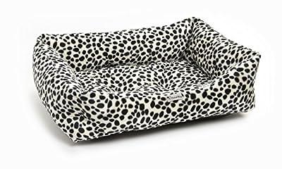 Acogedor Durable lavable sofá estilo perro cama en piel sintética de impresión, diseño de dálmata