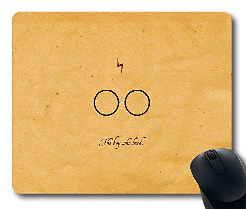 Custom Gaming Maus Pad mit Harry Potter Zitat Folie rutschfestem Neopren Gummi Standard Größe 22,9cm (220mm) X 17,8cm (180mm) X 1/20,3cm (3mm) Desktop Mousepad Laptop Mousepads bequem Computer Mauspad