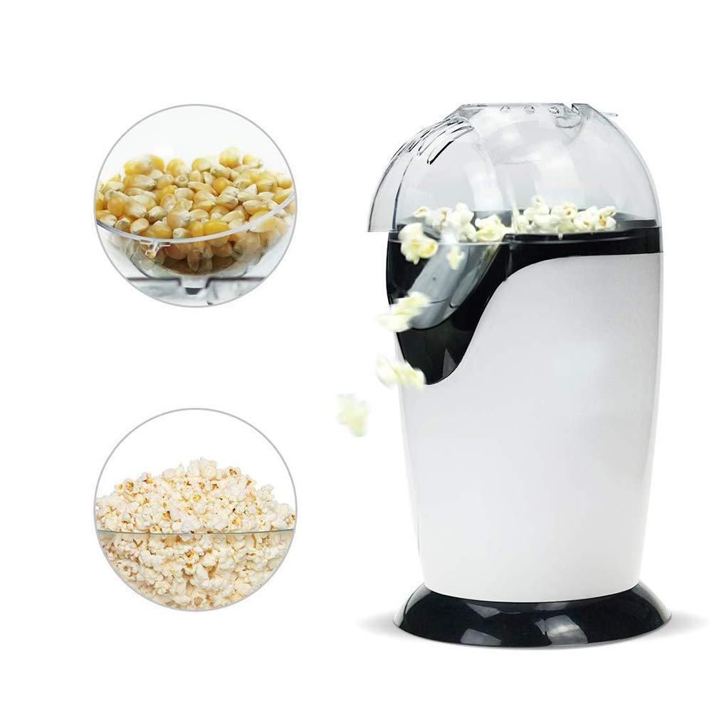 KOUQI Palomitas de maíz de Aire Caliente, máquina para Hacer Palomitas de maíz 1200W, máquina eléctrica de Palomitas de maíz para Uso doméstico, no Necesita Aceite, Blanco: Amazon.es