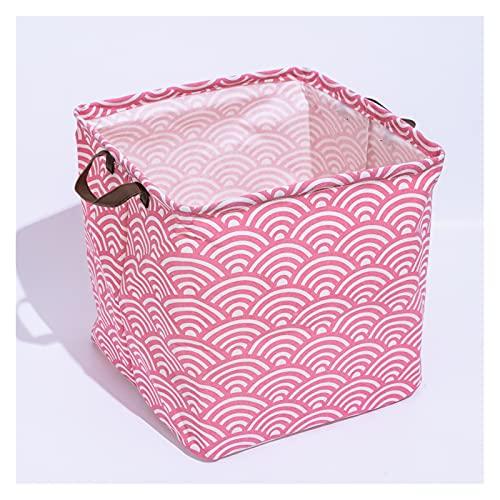 Mizuho Cubo Plegable Caja de Almacenamiento de Lona de algodón poliéster PE CUBIERTADO CUBIADO COMUNIONES Cubiertas Camper Aqua CANTIDA DE Almacenamiento (Color : A5, Size : 33x33x33cm)