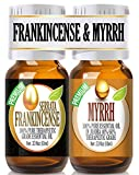 Frankincense and Myrrh Essential Oil Combo Pack 100% Pure, Best Therapeutic Grade Essential Oil -...