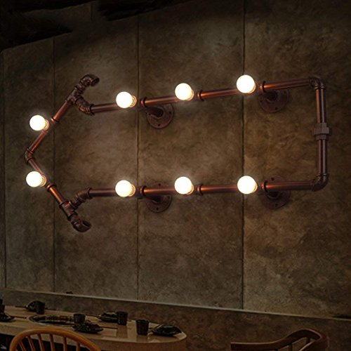 XIN Loft Industrial Retro nostalgie waterpijp wandlamp restaurant gang theme cafe bar ijzer kunst Edison lampen
