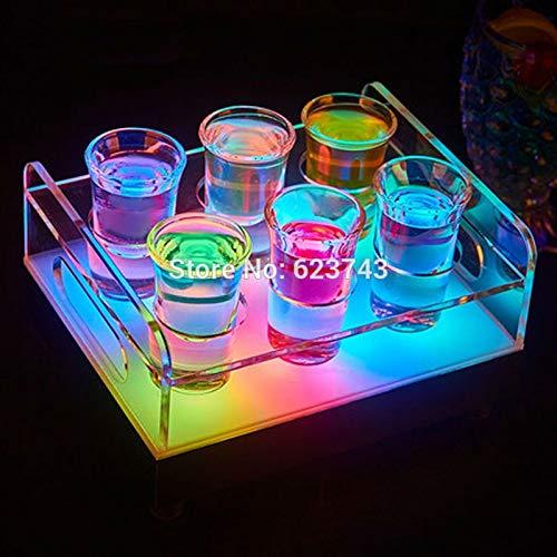 Flasche kleine Glasschale Kugeln Wodka Tasse Getränk Rack Farbe wiederaufladbare leichte Weinglas Rack Bar Eiskübel
