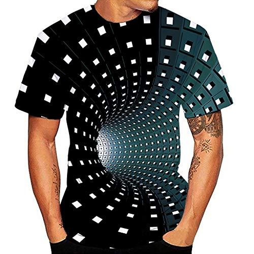 serliy😛Unisex Druck T-Shirt 3D Muster Shirt Kurze Ärmel Grafik Muskelshirt Spaß Motiv Tops Oversize Kurzarmshirt Sport Oberteile Print Unisex Basic Hemd Casual Sommer Lässige