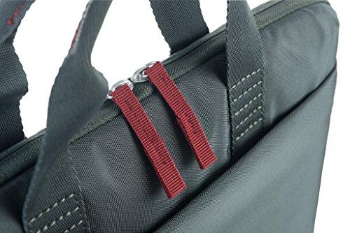 Tucano Smilza Laptoptasche aus Nylon für 13/14 Zoll Notebooks, mit schockabsorbierender Innenpolsterung und Abnehmbarer Schultergurt - Grau