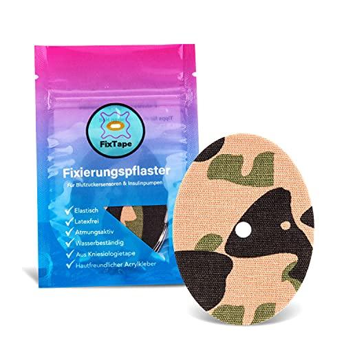 FixTape atmungsaktives Sensor-Tape für Freestyle Libre 1 & 2 I selbstklebendes Patch für Glukose-Sensor hoher Trage-Komfort I hautfreundlich und wasserfest in modernen Designs I 7 Stk. (Dschungel)