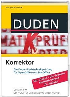 """Duden Korrektor 6.0 für OpenOffice/StarOffice: Die Duden-Rechtschreibprüfung für OpenOffice und StarOffice. Mit """"Duden-Die..."""