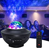 AMKI Star Projector, Star Light Room Projector with Bluetooth Speaker & Remote Control, LED Galaxy Light Projector with Ocean Wave,Starry Light for Babies Kids Adults Bedroom Party