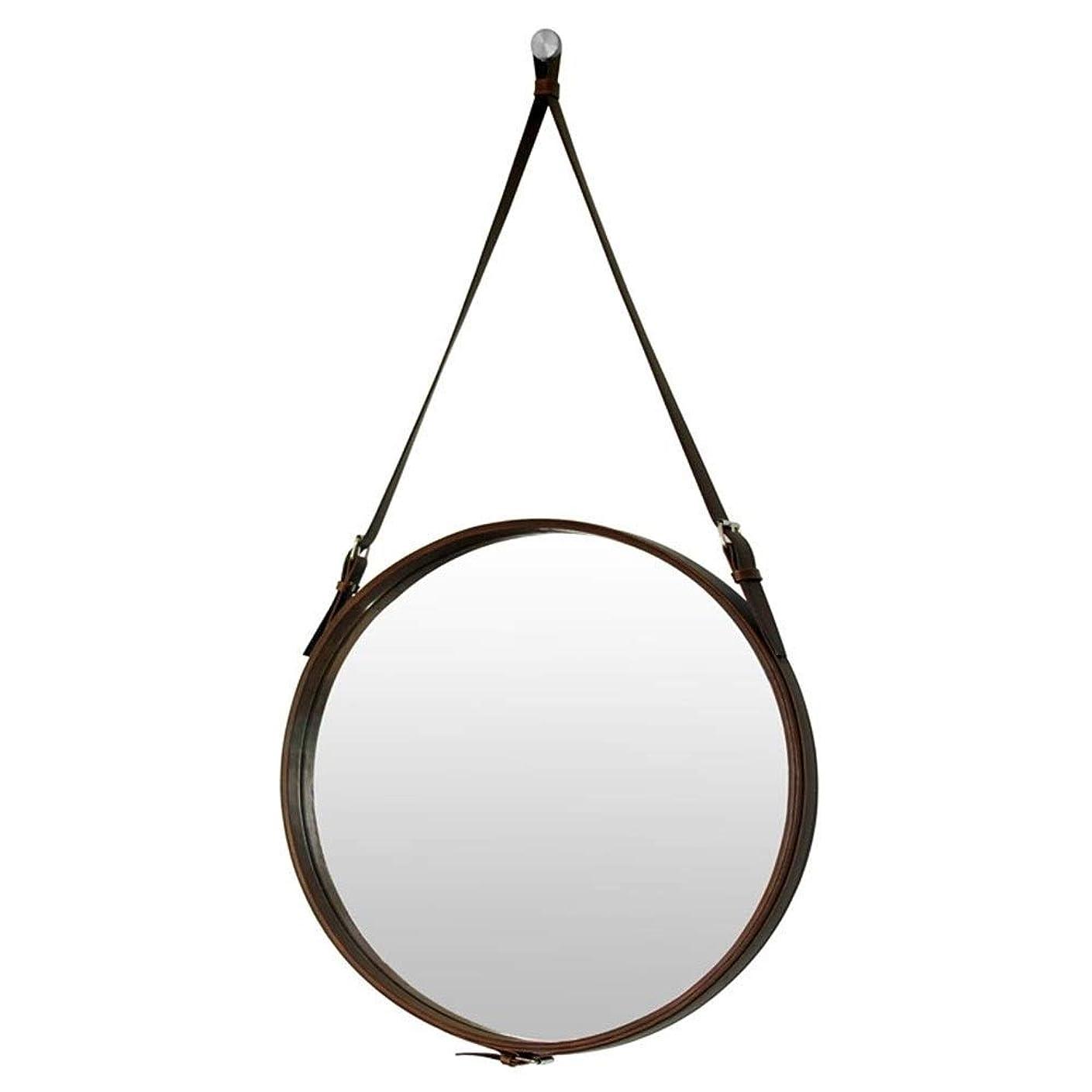 。バドミントン限りホテルの装飾的なミラーの浴室用ミラーの円形の壁ミラーの浴室用ミラーの化粧鏡Puの革