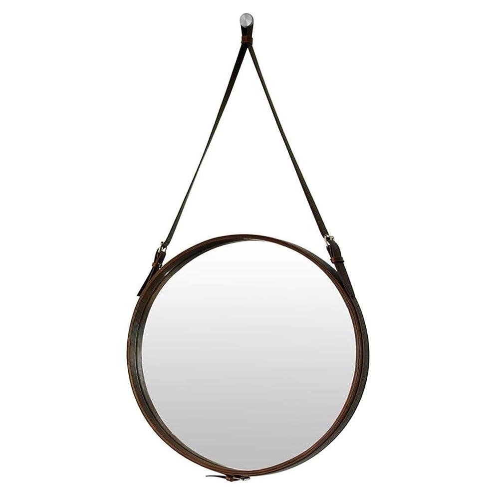買うミルク批評ホテルの装飾的なミラーの浴室用ミラーの円形の壁ミラーの浴室用ミラーの化粧鏡Puの革